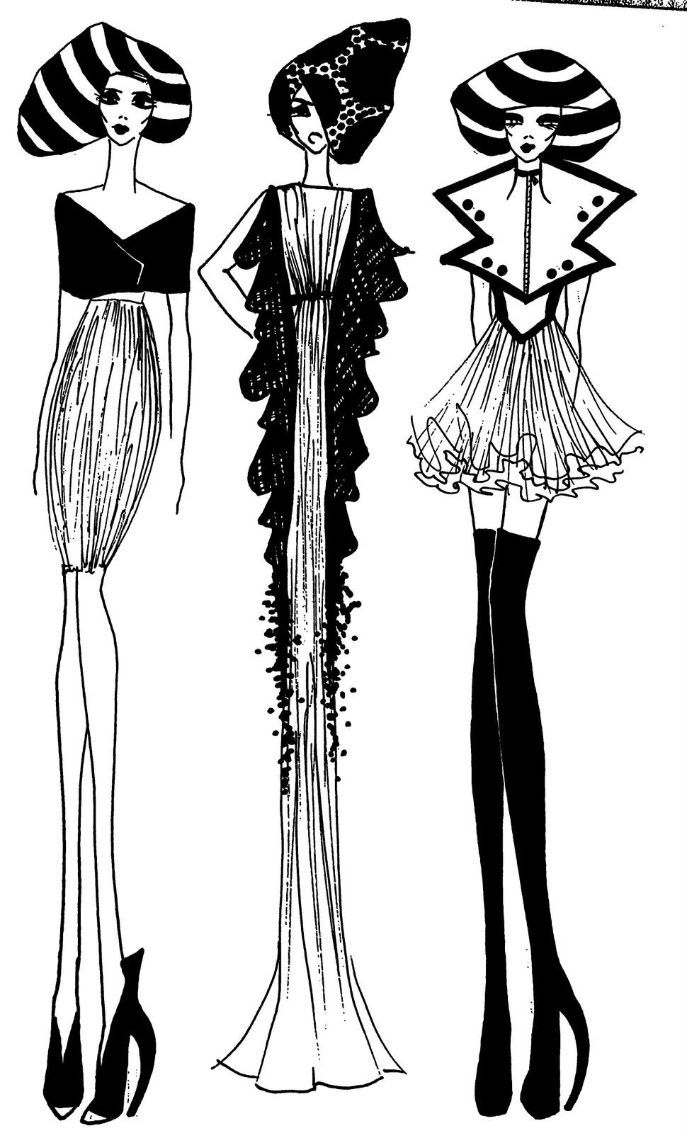 2019 year for girls- Chanel coco fashion sketch