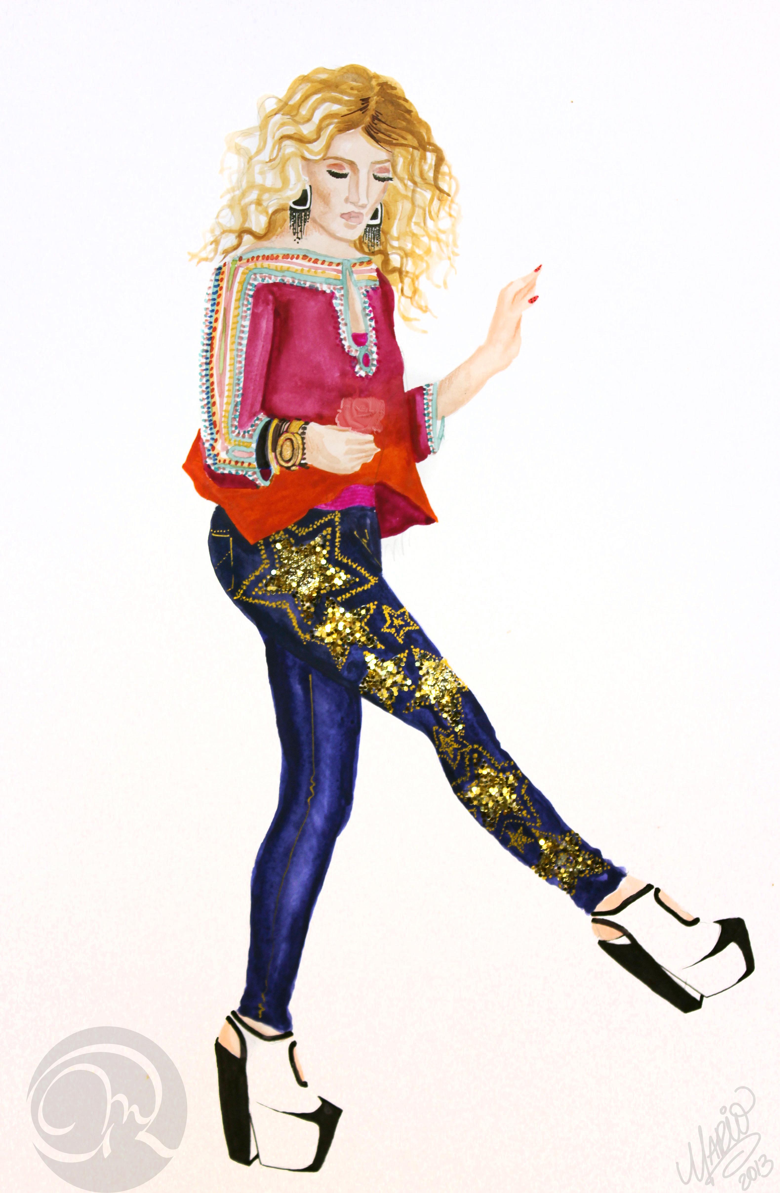 Fashion Illustration | Oro Continua